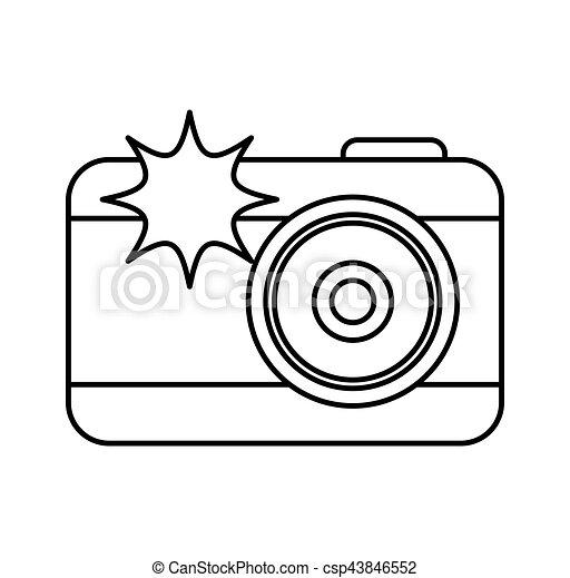 Extrem Clipart Vecteur de éclat appareil-photo, photographique, icône  ZJ56