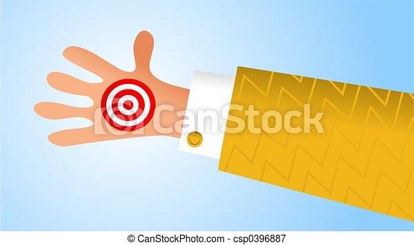 à mão, alvo - csp0396887