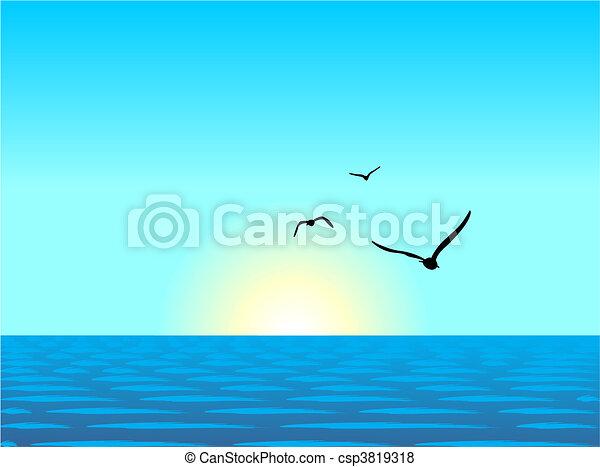 ábra, gyakorlatias, tenger, táj - csp3819318