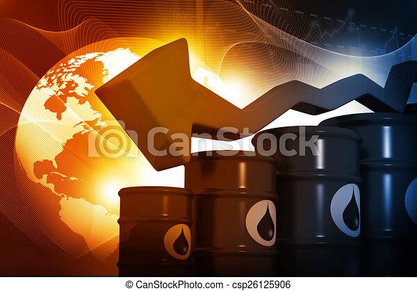 ábra, hengerek, esés, ár, olaj - csp26125906