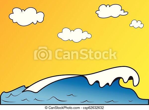 ábra, tenger, lenget - csp62632632