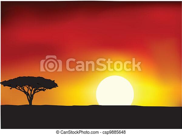 áfrica Paisagem Fundo Paisagem Vetorial áfrica Fundo Ilustração Canstock