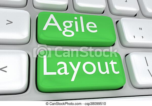 ágil, conceito, esquema - csp38099510