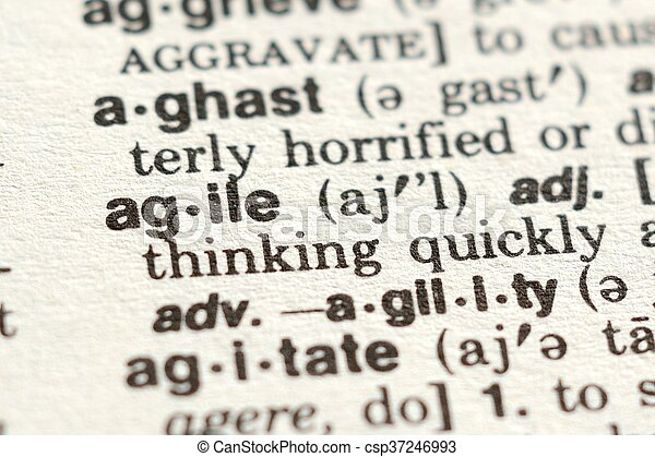 La palabra ágil - csp37246993