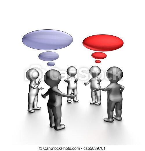 ágil, reunião, stand-up - csp5039701