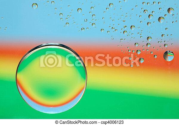 água, arco íris, gotas - csp4006123