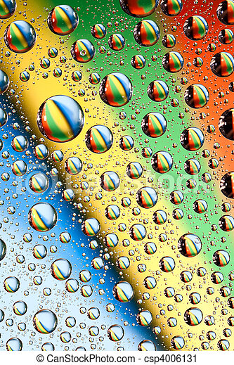 água, arco íris, gotas - csp4006131