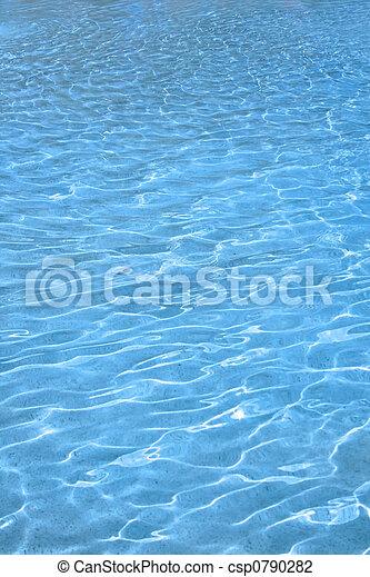 água azul, fundo - csp0790282