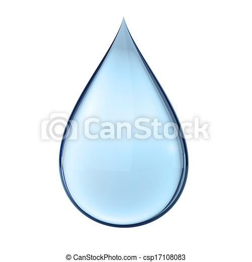 água, branca, gota, 3d - csp17108083