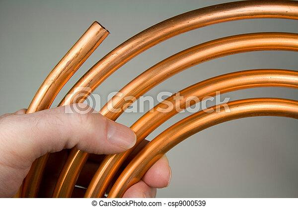 água, cobre, cano - csp9000539