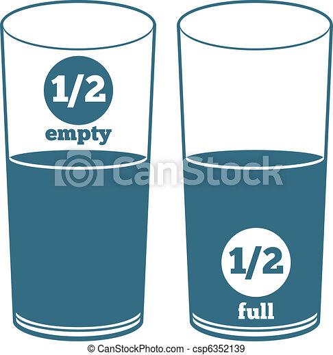água, dois, óculos - csp6352139