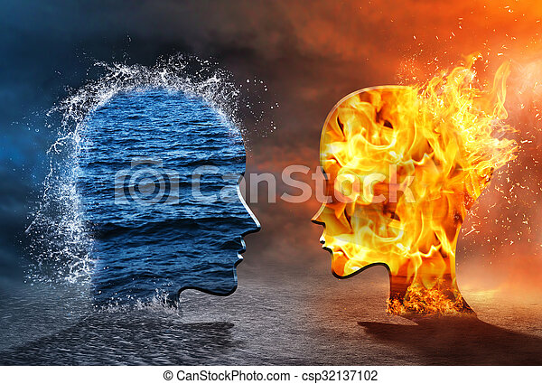 Resultado de imagem para Como água e fogo