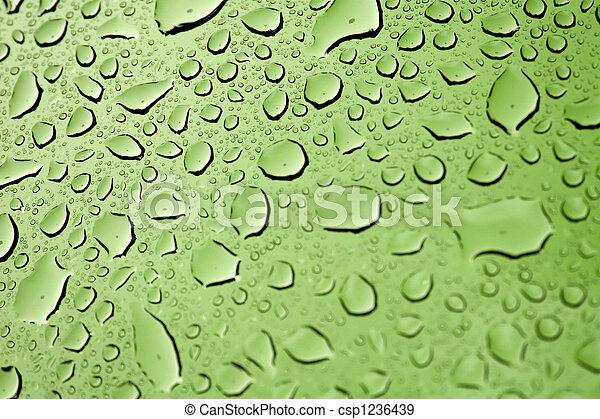 água, gotas - csp1236439