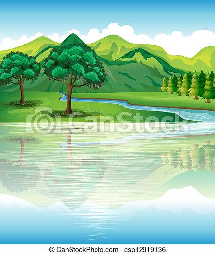 água, nosso, terra, recursos naturais - csp12919136