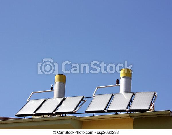 água, painéis, aquecimento, solar - csp2662233