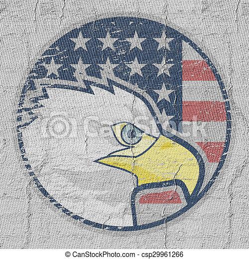 águia, ícone americano - csp29961266