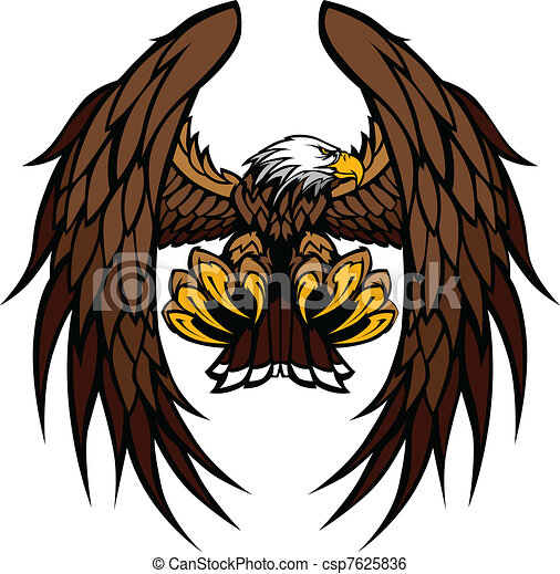 águia, mascote, vetorial, asas, garras - csp7625836