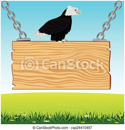 Águila a bordo desde el árbol - csp24410497