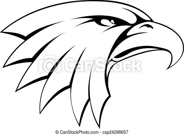 Águila, cabeza, calvo, icono. Águila, cabeza, orgulloso, calvo ...