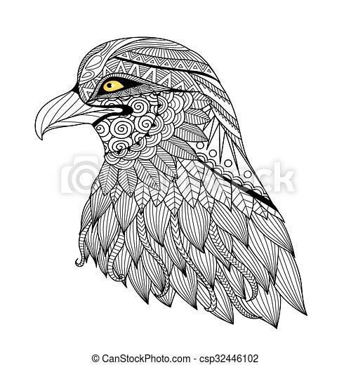 Página de color de águila - csp32446102