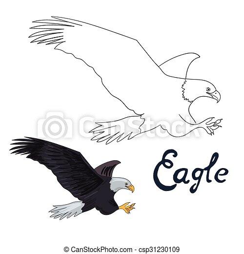 Águila, educativo, colorido, juego, libro, pájaro. Águila, educativo ...