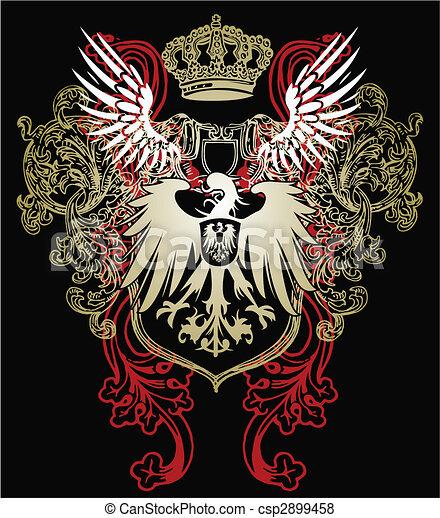 Un emblema de águila heráldica - csp2899458