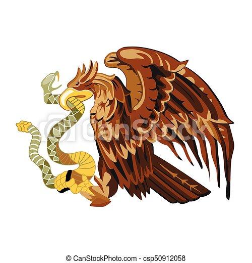 Vector de águila heráldica - csp50912058