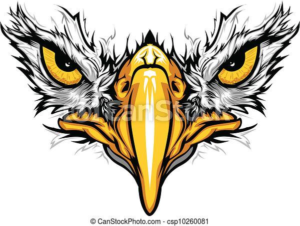 Ojos de águila y ilustración del vector de pico - csp10260081