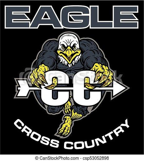 Águila a través del país - csp53052898