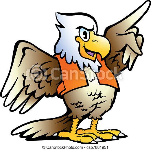 Apuntando a águila - csp7881951