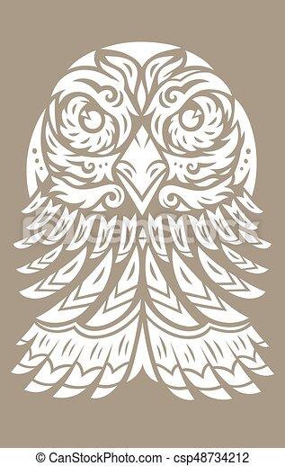 Tatuaje de tótem de águila - csp48734212
