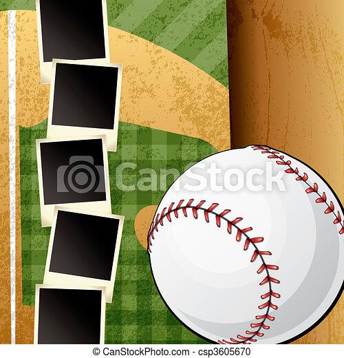 La plantilla de álbum de béisbol - csp3605670