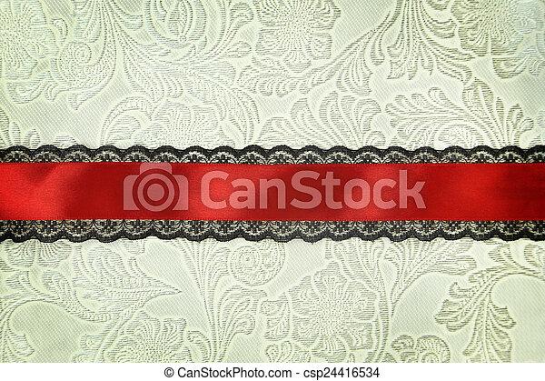 Fondo de tela decorativa. Scrapbook, concepto de álbum de fotos - csp24416534