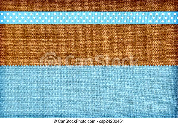 Fondo de tela decorativa. Scrapbook, concepto de álbum de fotos - csp24280451