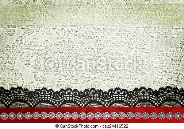Fondo de tela decorativa. Scrapbook, concepto de álbum de fotos - csp24416522