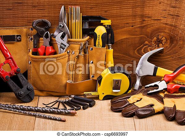 állhatatos, eszközök, dolgozó - csp6693997