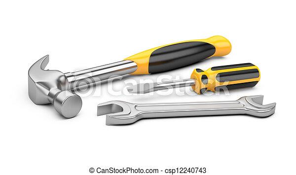 állhatatos, eszközök, szerelő - csp12240743