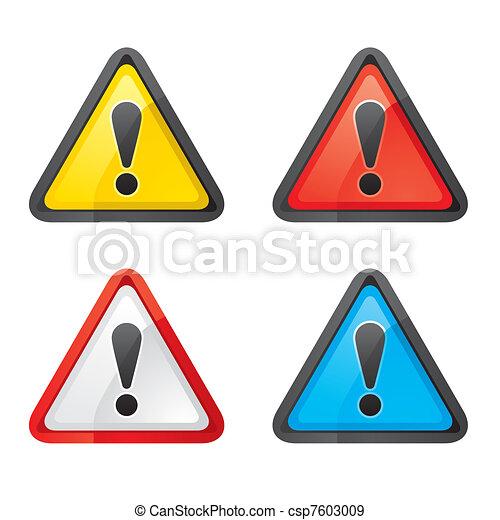 állhatatos, figyelmeztetés, kockázat, figyelem, aláír - csp7603009