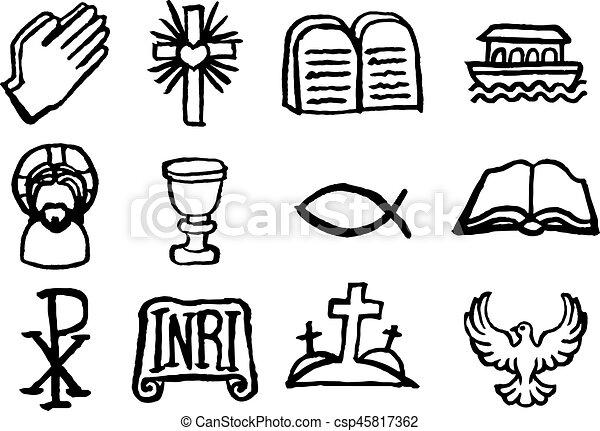 állhatatos, keresztény, ikon - csp45817362