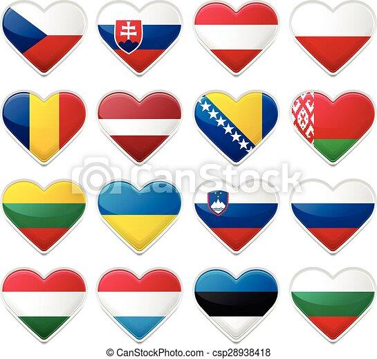 állhatatos, zászlók, európai - csp28938418