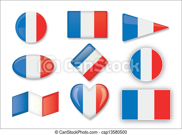 állhatatos, zászlók, francia - csp13580500