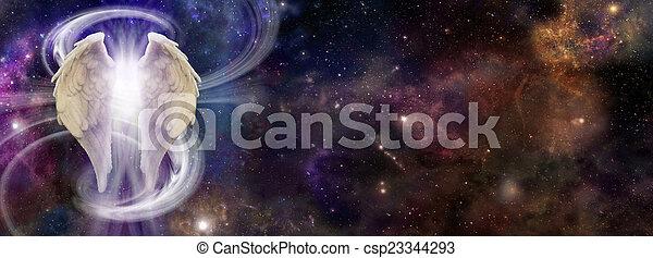 ángel, espíritu, profundo, espacio - csp23344293