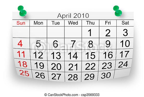 2010 április naptár Április, naptár, 2010. Elszigetelt, 2010, április, dolgozat, fehér  2010 április naptár