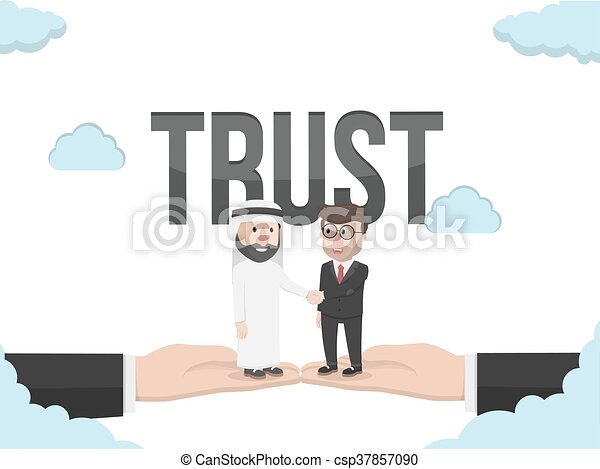 árabe, homem negócios, ha - csp37857090
