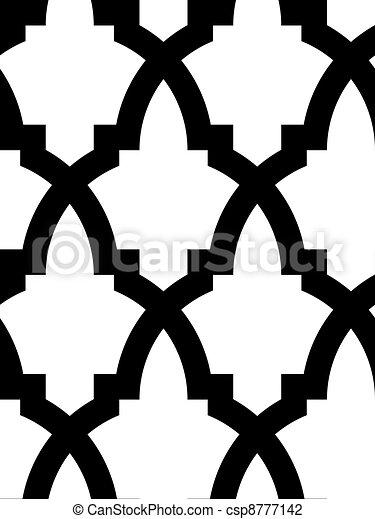árabe, seamless, mosaico - csp8777142