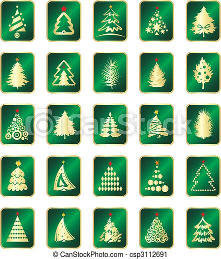 árbol abeto, colección - csp3112691