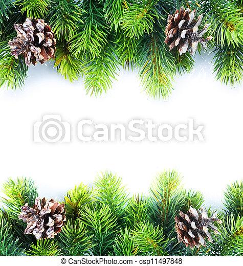 La frontera del árbol de Navidad - csp11497848