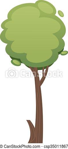 Ilustración de árboles de dibujos en blanco - csp35011867