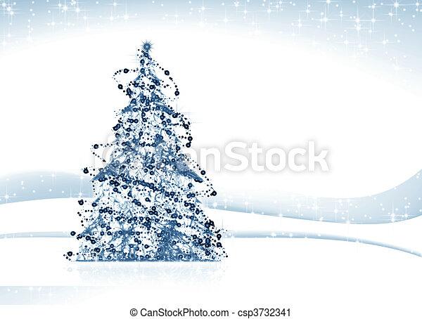 Árbol de Navidad - csp3732341