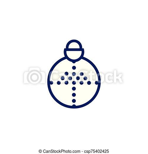 árbol de navidad, pelota, pino, alegre - csp75402425